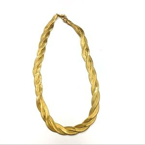 Vintage Avon Braided Herringbone Necklace